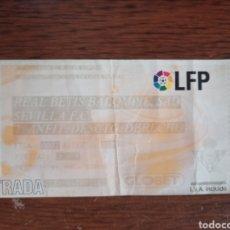 Coleccionismo deportivo: ENTRADA FÚTBOL LFP SEVILLA BETIS 2006. Lote 219029883