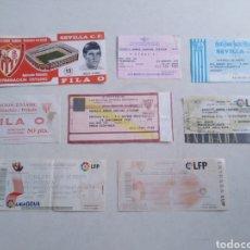 Coleccionismo deportivo: LOTE DE 8 ENTRADAS DE FÚTBOL ( ESTADIO RAMÓN SÁNCHEZ-PITJUAN ), ORIGINALES. Lote 220486392