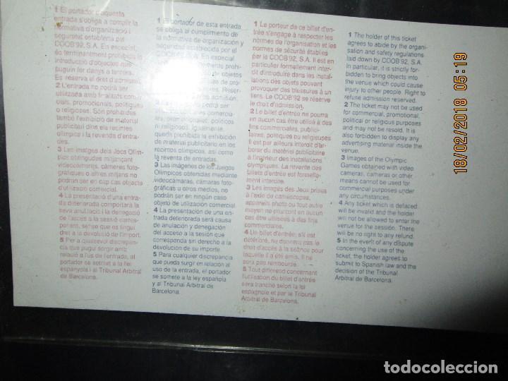 Coleccionismo deportivo: ENTRADA BARCELONA 1992 ESTADI OLIMPIC FINAL ATLETISMO - Foto 2 - 220802691