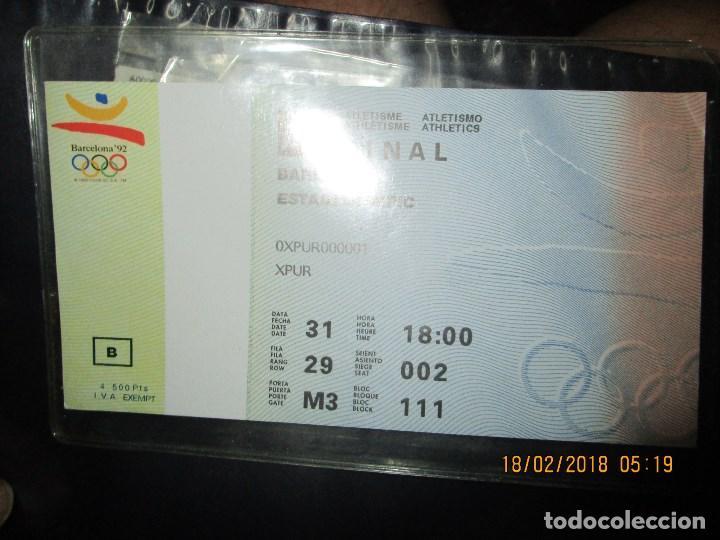 Coleccionismo deportivo: ENTRADA BARCELONA 1992 ESTADI OLIMPIC FINAL ATLETISMO - Foto 6 - 220802691