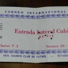 Coleccionismo deportivo: ENTRADA DE FÚTBOL, II TROFEO INTERNACIONAL SANTIAGO BERNABEU 1980, REAL MADRID 2 - BENFICA 2, ESTADI. Lote 220945848