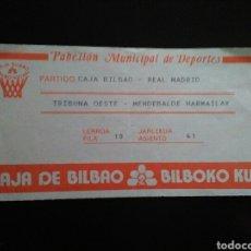 Coleccionismo deportivo: ENTRADA BALONCESTO REAL MADRID CAJA BILBAO. Lote 220970873