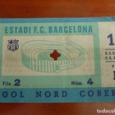 Coleccionismo deportivo: FUTBOL CLUB BARCELONA REAL CLUB DEPORTIVO ESPAÑOL ENTRADA ORIGINAL RESULTADO 1-3. Lote 222008141