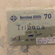 Coleccionismo deportivo: ENTRADA DEL BARCELONA ATLETIC COPA DEL REY PERDIO 0-1 ELIMINADO LO PONE EN PARTE POSTERIOR DE ENTRAD. Lote 222407461