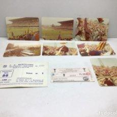 Coleccionismo deportivo: ENTRADA FINAL DE LA RECOPA 1979 BASILEA-F.C.BARCELONA-TIQUET AUTOBUS - LOTE FOTOGRAFIAS DEL PARTIDO. Lote 222484216