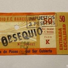 Coleccionismo deportivo: ENTRADA FC BARCELONA - REAL SOCIEDAD LIGA 1976-77 ENTERA CON MATRIZ. Lote 222556107