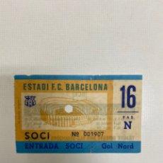 Coleccionismo deportivo: ENTRADA TICKET FC BARCELONA-DUKLA PRAGA 04-11-1981 RECOPA DE EUROPA. Lote 223244886
