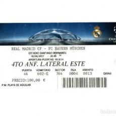 Coleccionismo deportivo: ENTRADA TICKET ENTRY ENTRANCE DE FÚTBOL MATCH PARTIDO REAL MADRID BAYERN MÜNCHEN MUNICH FOOTBALL VER. Lote 224493425