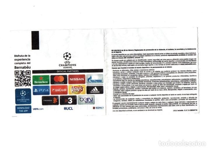 Coleccionismo deportivo: ENTRADA TICKET ENTRY ENTRANCE DE FÚTBOL MATCH PARTIDO REAL MADRID BAYERN MÜNCHEN MUNICH FOOTBALL VER - Foto 2 - 224493425