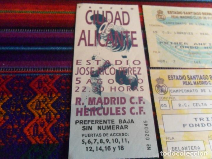 Coleccionismo deportivo: JOSÉ RICO PÉREZ ENTRADA TROFEO CIUDAD DE ALICANTE REAL MADRID HÉRCULES Y CELTA VIGO Y C.D. LOGROÑÉS. - Foto 2 - 227682485
