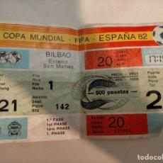 Coleccionismo deportivo: ENTRADA MUNDIAL DE FÚTBOL 82 INGLATERRA - CHECOSLOVAQUIA EN SAN MAMÉS (BILBAO). Lote 228355895
