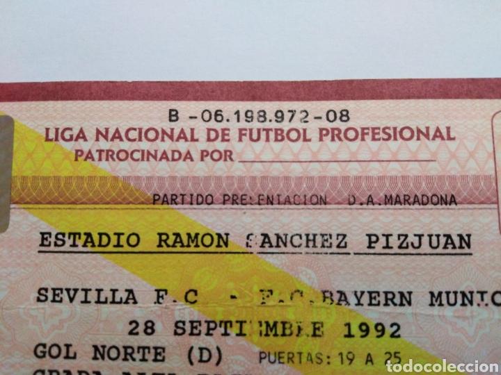 Coleccionismo deportivo: Entrada partido presentación D.A.Maradona en el Sevilla F.C - Foto 4 - 228516180