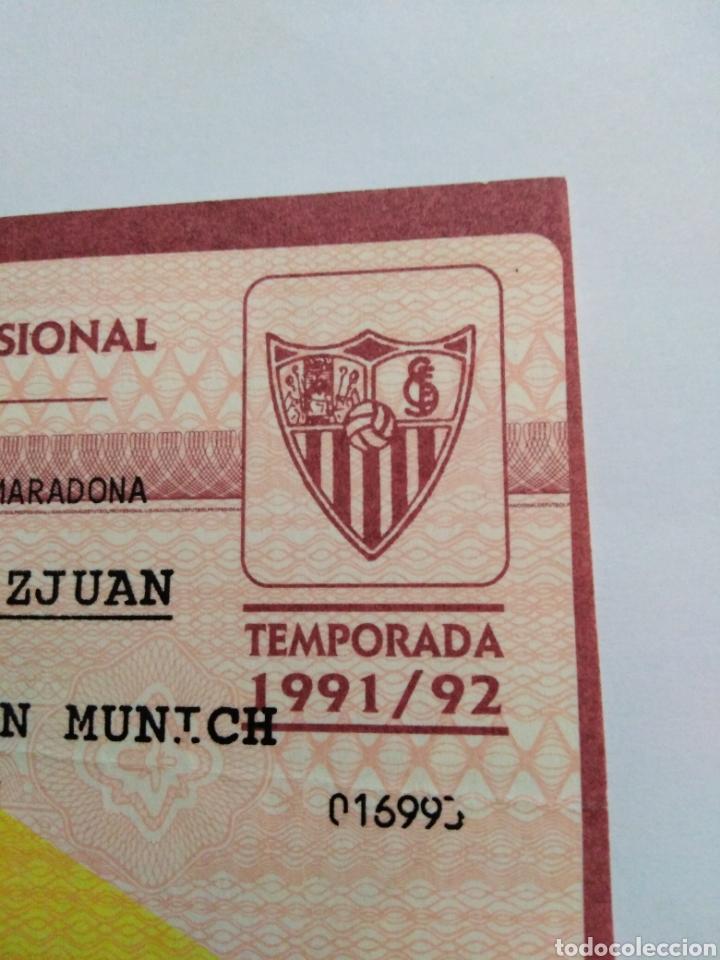 Coleccionismo deportivo: Entrada partido presentación D.A.Maradona en el Sevilla F.C - Foto 5 - 228516180