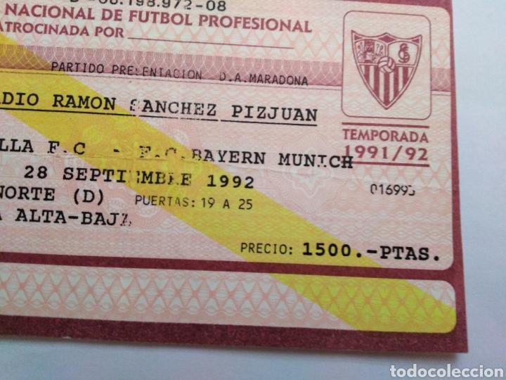 Coleccionismo deportivo: Entrada partido presentación D.A.Maradona en el Sevilla F.C - Foto 7 - 228516180