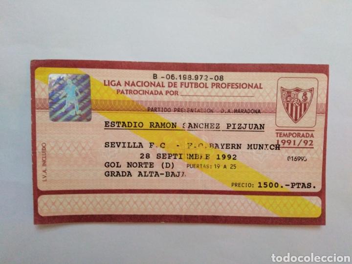 ENTRADA PARTIDO PRESENTACIÓN D.A.MARADONA EN EL SEVILLA F.C (Coleccionismo Deportivo - Documentos de Deportes - Entradas de Fútbol)