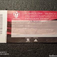 Coleccionismo deportivo: ENTRADA FÚTBOL FC BARCELONA - VALENCIA CF. Lote 231415530