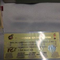 Colecionismo desportivo: ENTRADA FINAL COPA REY FC BARCELONA BETIS 1997. Lote 232848240