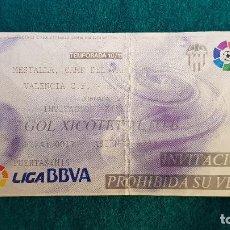 Coleccionismo deportivo: ENTRADA FUTBOL ESTADIO MESTALLA VALENCIA-REAL MALLORCA TEMPORADA LIGA 2010-2011 LFP - RW. Lote 235372585