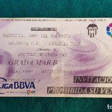 Coleccionismo deportivo: ENTRADA FUTBOL ESTADIO MESTALLA VALENCIA-ATHLETIC CLUB BILBAO TEMPORADA LIGA 2008-2009 LFP - RW. Lote 235372780