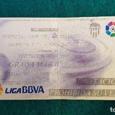 Coleccionismo deportivo: ENTRADA FUTBOL ESTADIO MESTALLA VALENCIA-RACING SANTANDER TEMPORADA LIGA 2009-2010 LFP - RW. Lote 235373010
