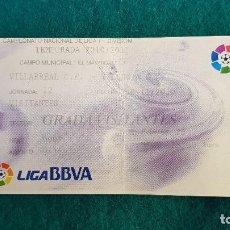 Coleccionismo deportivo: ENTRADA FUTBOL ESTADIO EL MADRIGAL VILLARREAL-VALENCIA C.F. TEMPORADA LIGA 2010-2011 LFP - RW. Lote 235373340
