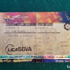Coleccionismo deportivo: ENTRADA FUTBOL ESTADIO CAMP NOU BARCELONA-VALENCIA TEMPORADA LIGA 2008-2009 LFP - RW. Lote 235374010
