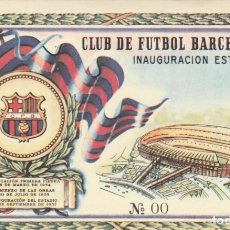 Coleccionismo deportivo: CLUB DE FUTBOL BARCELONA - INAUGURACION ESTADIO 24 SEPTIEMBRE 1957 - Nº 00 - REVERSO EFEMERIDES. Lote 235382985