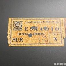 Coleccionismo deportivo: ENTRADA TICKET ESPAÑA-IRLANDA EIRE 30/05/1948 JUGADO EN BARCELONA MONTJUICH. Lote 235854640