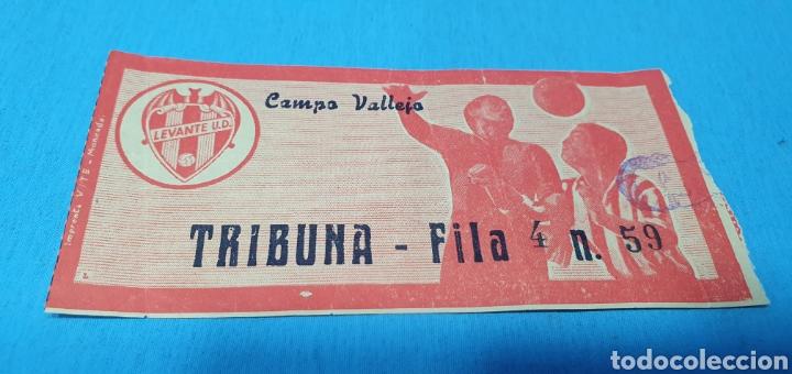 Coleccionismo deportivo: ANTIGUAS ENTRADAS DE FÚTBOL - LEVANTE U. D. - CAMPO DE VALLEJO - Foto 2 - 236340455