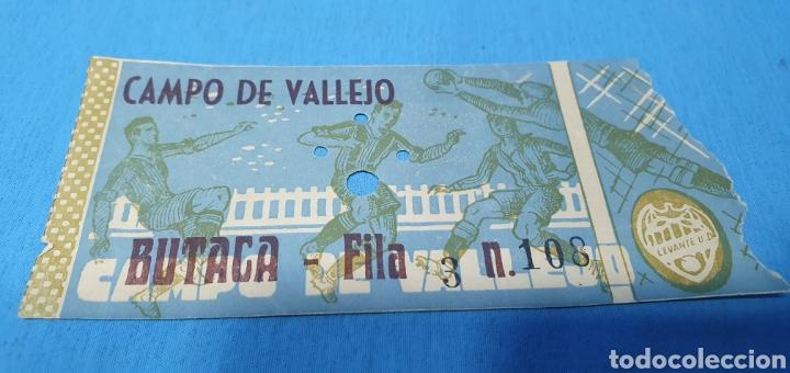 Coleccionismo deportivo: ANTIGUAS ENTRADAS DE FÚTBOL - LEVANTE U. D. - CAMPO DE VALLEJO - Foto 3 - 236340455