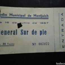 Coleccionismo deportivo: ENTRADA FUTBOL FINAL COPA BARCELONA ESPAÑOL 1957. Lote 236984575