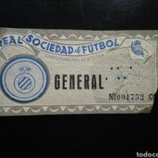 Coleccionismo deportivo: ENTRADA FÚTBOL REAL SOCIEDAD ESPAÑOL. Lote 236985160
