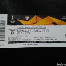 Coleccionismo deportivo: ENTRADA FUTBOL SEVILLA LAZIO 2019. Lote 236991465