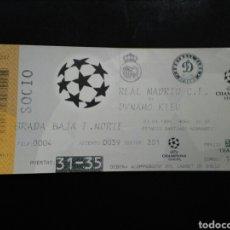 Coleccionismo deportivo: ENTRADA FUTBOL REAL MADRID DINAMO KIEV 1999. Lote 236992475