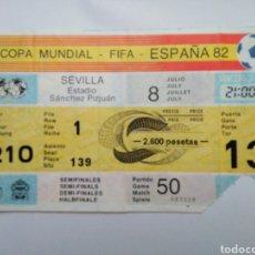 Coleccionismo deportivo: ENTRADA FÚTBOL ( COPA MUNDIAL-FIFA-ESPAÑA 82 ) ESTADIO SÁNCHEZ PIZJUAN. Lote 239496970