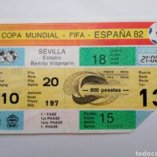Coleccionismo deportivo: ENTRADA DE FÚTBOL ( COPA MUNDIAL-FIFA-ESPAÑA 82 ) ESTADIO BENITO VILLAMARIN. Lote 239497380