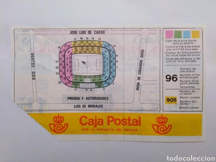 Coleccionismo deportivo: Entrada de fútbol ( copa mundial-fifa-España 82 ) estadio Sánchez Pizjuan - Foto 2 - 239497620