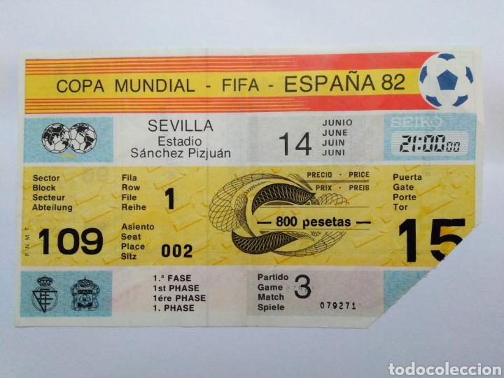 ENTRADA DE FÚTBOL ( COPA MUNDIAL-FIFA-ESPAÑA 82 ) ESTADIO SÁNCHEZ PIZJUAN (Coleccionismo Deportivo - Documentos de Deportes - Entradas de Fútbol)