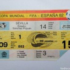 Coleccionismo deportivo: ENTRADA DE FÚTBOL ( COPA MUNDIAL-FIFA-ESPAÑA 82 ) ESTADIO SÁNCHEZ PIZJUAN. Lote 239497620