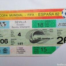 Coleccionismo deportivo: ENTRADA DE FÚTBOL ( COPA MUNDIAL-FIFA-ESPAÑA 82 ) ESTADIO BENITO VILLAMARIN. Lote 239497860