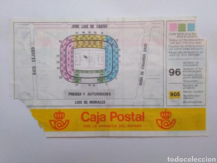 Coleccionismo deportivo: Entrada de fútbol ( copa mundial-fifa-España 82 ) estadio Sánchez Pizjuan - Foto 2 - 239498365