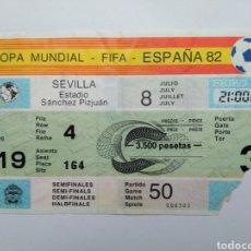 Coleccionismo deportivo: ENTRADA DE FÚTBOL ( COPA MUNDIAL-FIFA-ESPAÑA 82 ) ESTADIO SÁNCHEZ PIZJUAN. Lote 239498365
