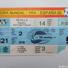 Coleccionismo deportivo: ENTRADA DE FÚTBOL ( COPA MUNDIAL-FIFA-ESPAÑA 82 ) ESTADIO SÁNCHEZ PIZJUAN. Lote 239498790