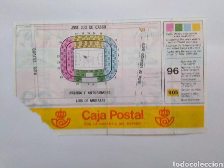 Coleccionismo deportivo: Entrada de fútbol ( copa mundial-fifa-España 82 ) estadio Sánchez Pizjuan - Foto 2 - 239499140