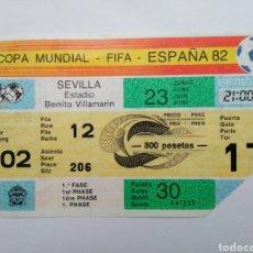 Coleccionismo deportivo: ENTRADA DE FÚTBOL ( COPA MUNDIAL-FIFA-ESPAÑA 82 ) ESTADIO BENITO VILLAMARIN. Lote 239499390