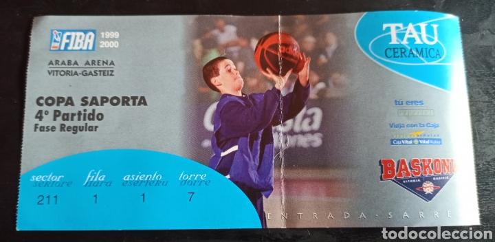 ENTRADA BALONCESTO TAU VITORIA COPA SAPORTA 99 00 (Coleccionismo Deportivo - Documentos de Deportes - Entradas de Fútbol)