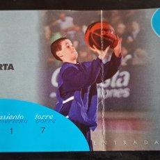 Coleccionismo deportivo: ENTRADA BALONCESTO TAU VITORIA COPA SAPORTA 99 00. Lote 241893170