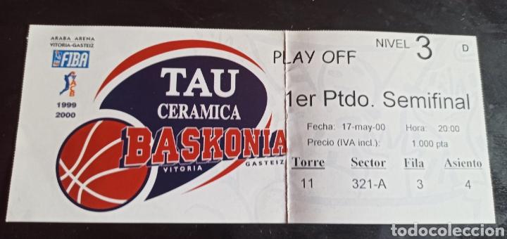 ENTRADA BALONCESTO TAU VITORIA BARCELONA PLAY OFF 99 00 (Coleccionismo Deportivo - Documentos de Deportes - Entradas de Fútbol)