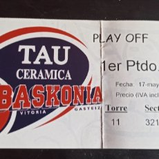 Coleccionismo deportivo: ENTRADA BALONCESTO TAU VITORIA BARCELONA PLAY OFF 99 00. Lote 241894750