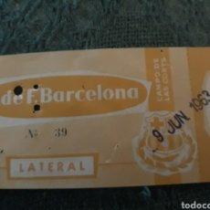 Coleccionismo deportivo: ENTRADA BARCELONA CLUB DE FUTBOL 1963 COMPO DE LES CORTS. Lote 242821500